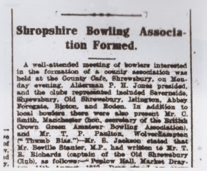 Headline from the Shrewsbury Chronicle, August 1912